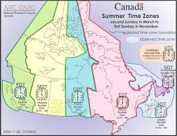 canadian map with time zones time zones daylight saving time national research council canada