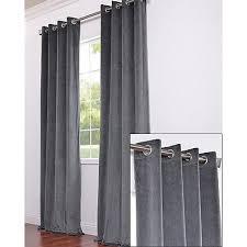 Charcoal Grey Blackout Curtains Ikea Sanela Charcoal Gray Curtains 2 Panels Blackout Cotton Velvet