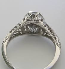 charming antique art deco style filigree engagement ring setting