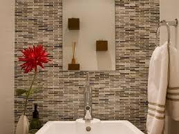 bathroom cool bathroom accent wall tiles white brown mosaic