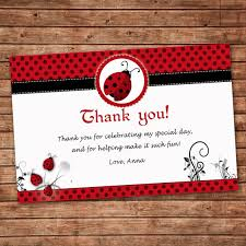ladybug baby shower favors wonderful ladybug baby shower thank you cards 99 about remodel
