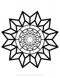free printable coloring page detailed star pattern star