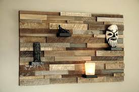 wood plank wall diy decoration with small home decor