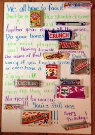 candy bar birthday poster card diy crafts that i