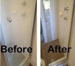 how to clean glass shower doors with hard water stains home