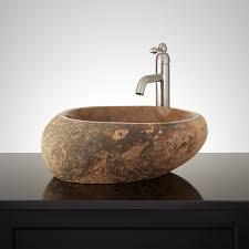 natural stone textured sink signature hardware