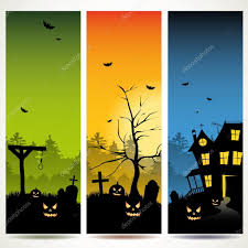 halloween vertical banners u2014 stock vector kaktus2536 26575979