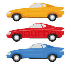 cartoon cars color palettes stock vector