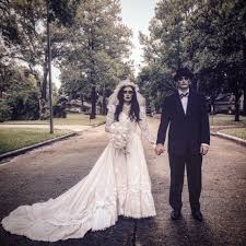 couple halloween costume ghost bride and groom halloween costume