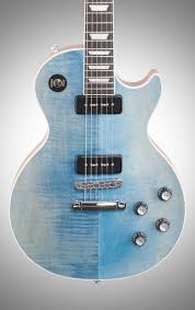 light blue gibson les paul gibson 2018 limited edition les paul classic player plus electric