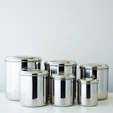 stainless steel canisters kitchen stainless steel canisters set of 6 canister sets and pantry