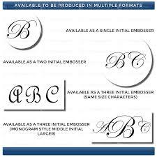 Initial Monogram Fonts Buy Soft Seal Monogram Embosser Acorn Sales