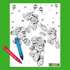 teenage mutant ninja turtles holiday coloring nickelodeon