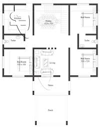 one floor house plans modern 3 bedroom one house plan eplans