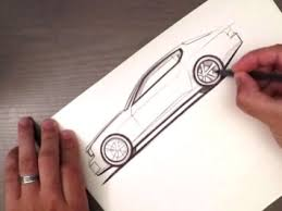quick side view sketch car body design