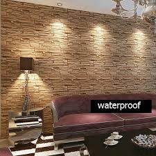 wallpaper design batu bata beibehang modern style 3d wallpaper stone brick design background