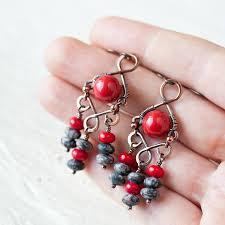 Red Chandelier Earrings Bright Red Chandelier Editonline Us