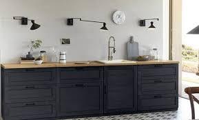 meuble de cuisine noir meuble cuisine de pas cher leroy merlin newsindo co