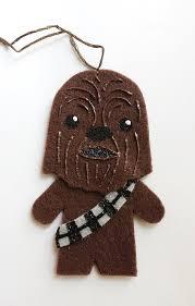 wars chewbacca felt ornament felt