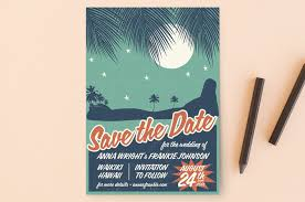 save the date designs retro hawaii save the date postcards by coco and ellie design minted