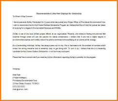 reference letter for scholarship 4 example of recommendation