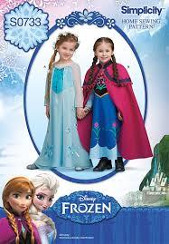 Simplicity Halloween Costumes Amazon Simplicity Creative Patterns S0733 Disney U0027s Frozen