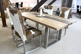 Wohnzimmertisch Und Esstisch In Einem Esstisch Mit Tischgestell Aus Rohstahl 240 X 100 Cm Der Tischonkel