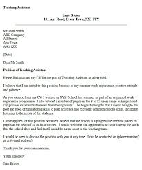 teaching assistant cover letter example cover letter examples