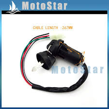 atv ignition key switch 4 pin wire for chinese quad 4 wheeler go