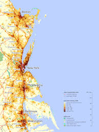 Map Of Northeast The Northeast Megalopolis Containing 20 Of The U S Gdp And 17