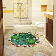 bathroom floor art home decorating inspiration