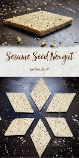 sesame seed nougat she loves biscotti