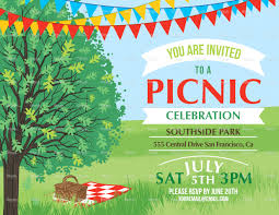 Church Invite Cards Template Summer Picnic And Bbq Invitation Flyer Or Template Text Is On Its