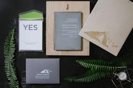 luxury concrete wedding invitation a fine press