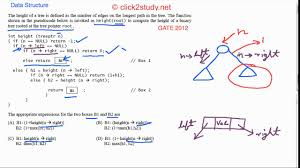 data structure example 1 004 gate cs 2012 pseudo code height of