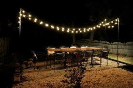 hanging outdoor string lights hanging string lights on patio unique how to hang outdoor string