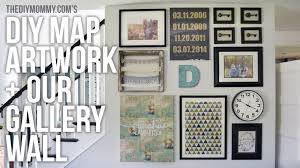 Map Art Diy Map Art And Gallery Wall Idea Youtube