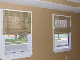 Bamboo Blinds Lowes Curtain Cover Your Window Using The Charming Cordless Roman