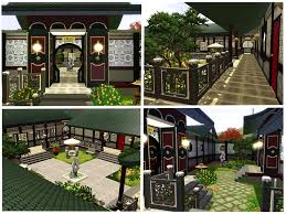 mod the sims chinese courtyard house
