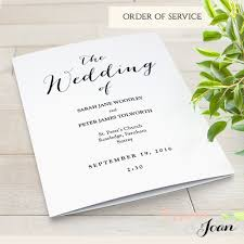 folded wedding program folded wedding program template modern sweet bomb edit