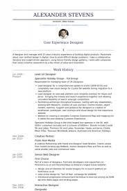 Designers Resume Samples by Senior Ux Designer Resume U2013 Resume Examples