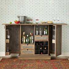Distressed Wood Bar Cabinet Reclaimed Distressed Oak Bar And Console