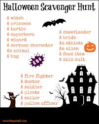 free printable halloween silhouettes halloween scavenger hunt printable