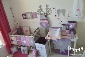 chambre bébé violet décoration chambre bébé fille mauve violet parme argent 5