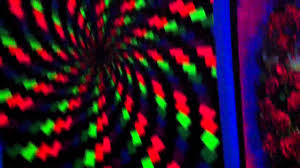 trippy blacklight room youtube