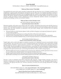 Resume Samples For Teacher by Special Education Teacher Resume Samples Best Resume Collection