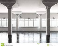 white loft room with columns stock illustration image 34406631