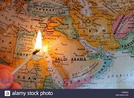 Middle East Map by Middle East Map With A Lit Match Symbolizing The Region U0027s Unrest