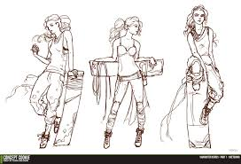female character series sketching the outline by cgcookie on