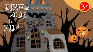 halloween city stores halloween paint draw for kids android apps on google play